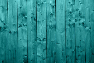 Wooden wall in turquoise