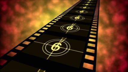 Movie Countdown Animation - Loop Orange