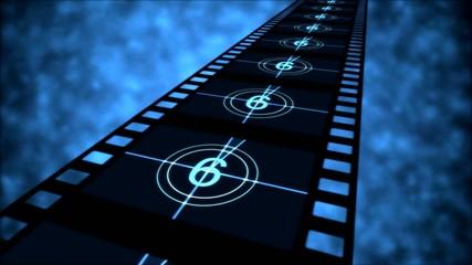 Movie Countdown Animation - Loop Blue