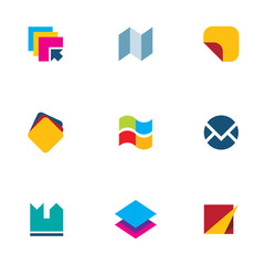 iOS operating system engine document organization icon set logo