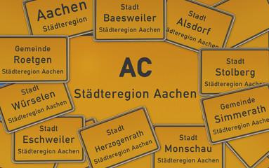 Ortsschilder Städteregion Aachen