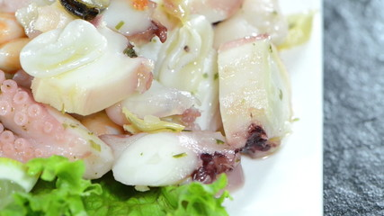 Mixed Seafood Salad (not loopable)