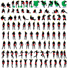 100 naked mens silhouettes