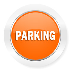 parking orange computer icon