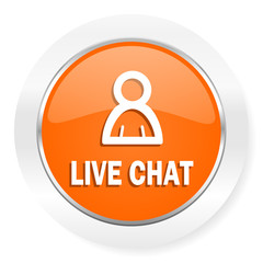 live chat orange computer icon