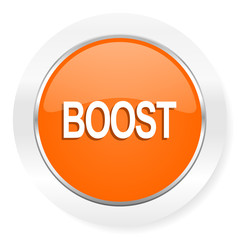 boost orange computer icon