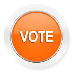 vote orange computer icon