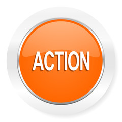 action orange computer icon