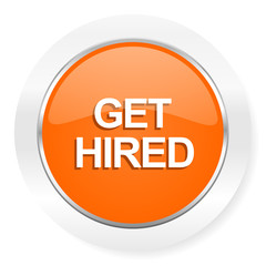 get hired orange computer icon