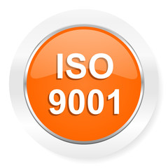 iso 9001 orange computer icon