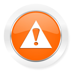 exclamation sign orange computer icon