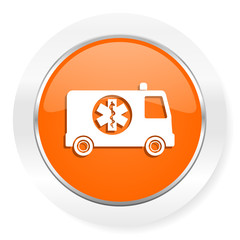 ambulance orange computer icon