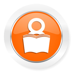 book orange computer icon