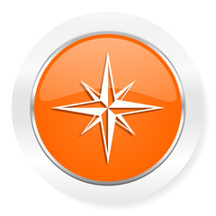 compass orange computer icon