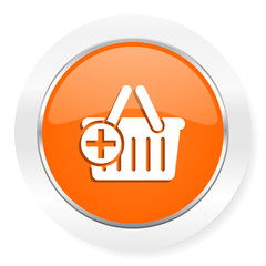 cart orange computer icon
