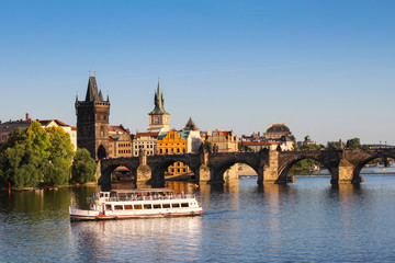 Landscape of an old Prague, The Charles Bridge