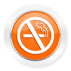no smoking orange computer icon