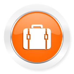 bag orange computer icon