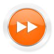 rewind orange computer icon