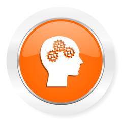 head orange computer icon