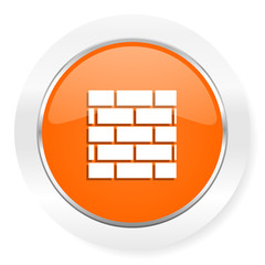 firewall orange computer icon