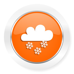 snowing orange computer icon