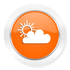 cloud orange computer icon