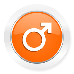 male orange computer icon