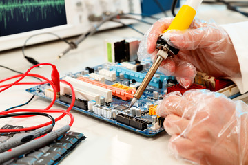 Computer board soldering