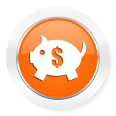 piggy bank orange computer icon