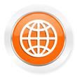 earth orange computer icon