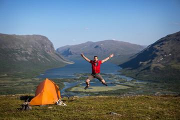 Camping in Lappland - Schweden