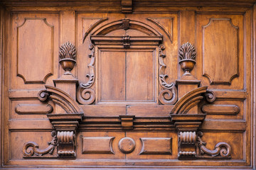 Carved wooden doorway
