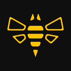 Simple abstract bee illustration