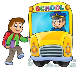 Image with school bus theme 5