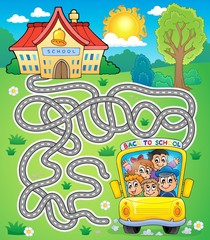 Maze 7 with school bus