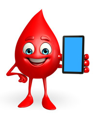 Blood Drop Character with mobile