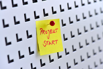 Projektstart, Kick Off, Projektmanagement, Termin, Pinnwand