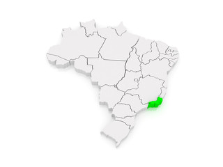 Map of Rio de Janeiro. Brazil.