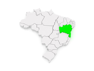 Map of Bahia. Brazil.