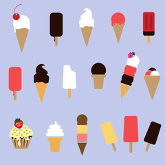 set of ice-cream
