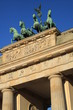 canvas print picture - Brandenburger Tor mit Quadriga in Berlin