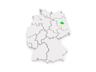 Map of Berlin. Germany.