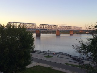 summer evening on the Volga River.