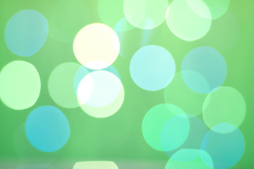 Abstract bokeh on green