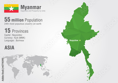 Myanmar world map with a pixel diamond texture burma map buy myanmar world map with a pixel diamond texture burma map gumiabroncs Image collections