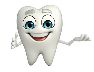 Teeth character with hello pose