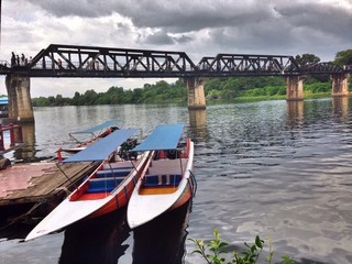 The bridge of River Kwai, Thailand.
