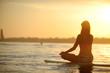 canvas print picture - SUP Yoga Meditation