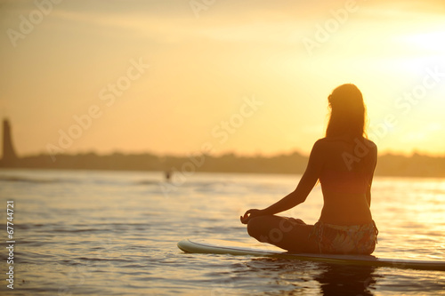 canvas print picture SUP Yoga Meditation